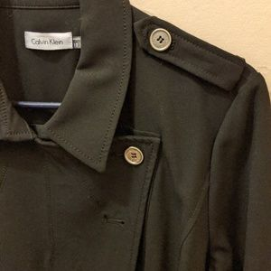 EUC Calvin Klein military coat style dress or coat